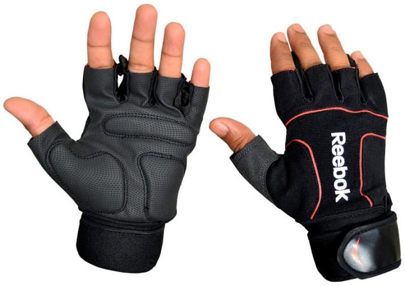 REEBOK Liifting Gym & Fitness Gloves (XL, Black, Red)
