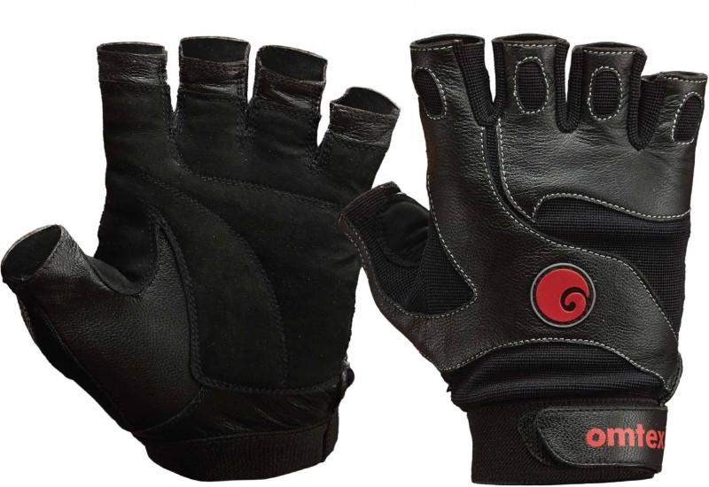 Omtex Ace Gym & Fitness Gloves (L, Black)