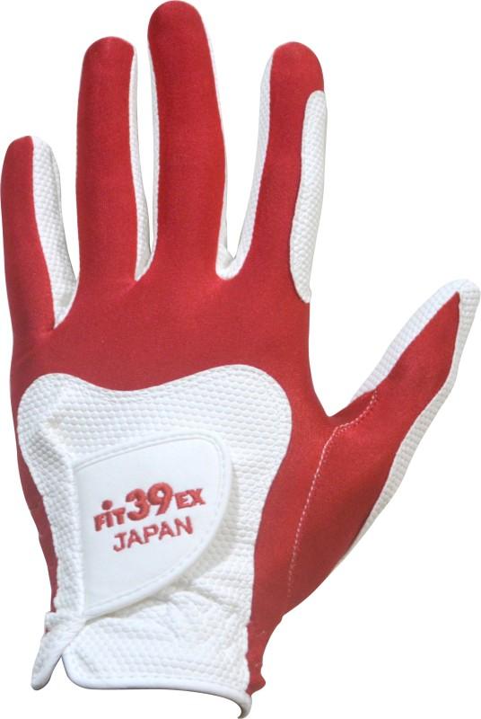 Fit39 EX Golf Gloves (S, White, Red)