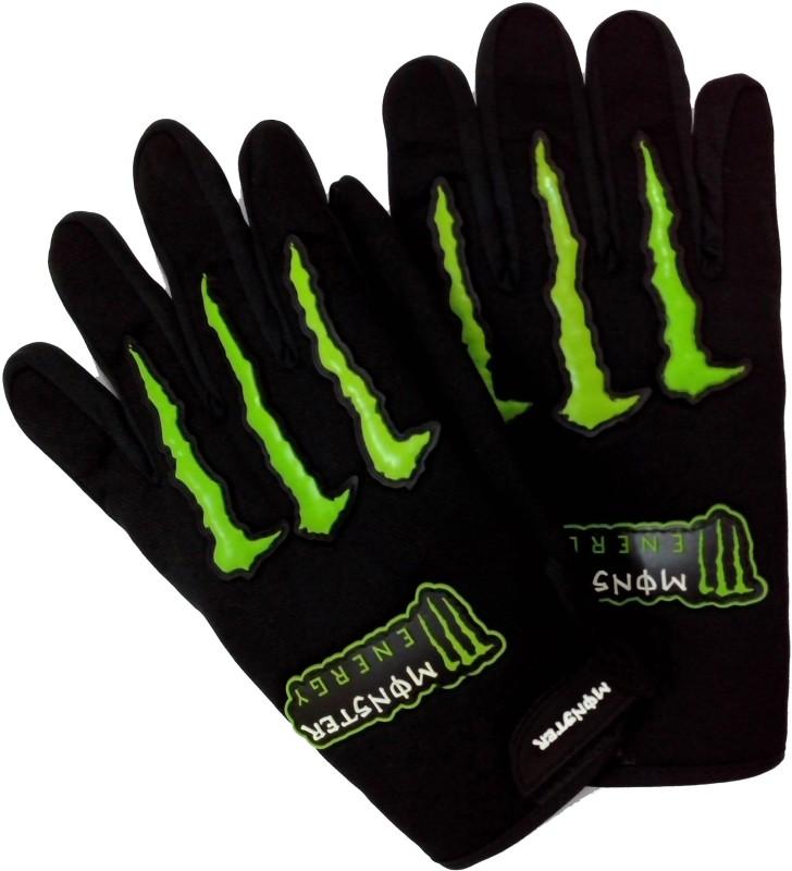 Monster Comfort Driving Driving Gloves (XL, Black, Green)