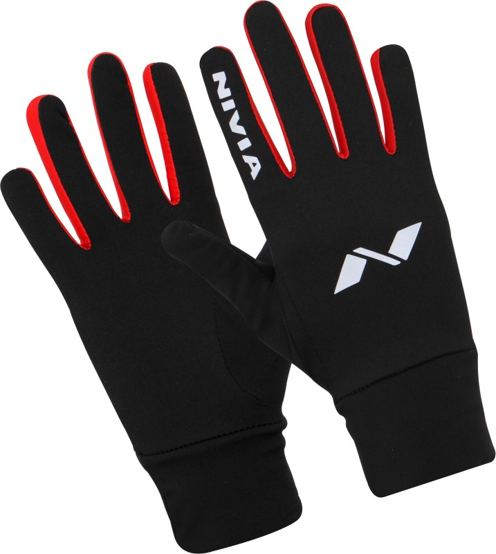 Nivia Performaxx Running Gloves (M, Black, Red)