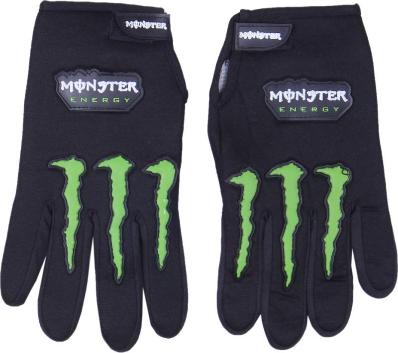 Monster Monster Riding Gloves (Free Size, Black)