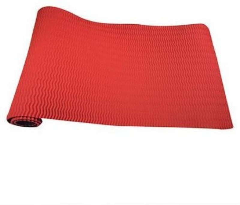 Relaxo Wavy Design Anti-Slip Red 6 mm Yoga Mat