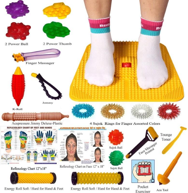 Super India Store Acupressure Mat Yellow Yellow 4 mm Yoga Mat