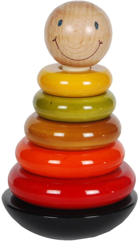 MNC Wooden Smile Ring Set for Stacking & Counting(Multicolor)