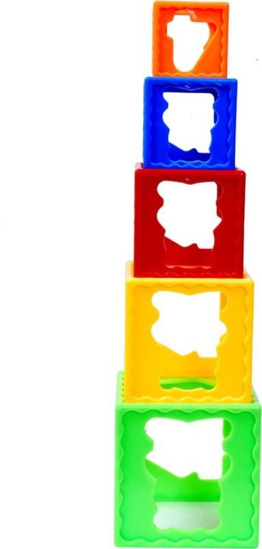 Montez Stack Cube Play Learn Fun(Multicolor)