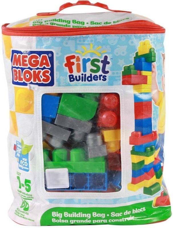 Mega Bloks Mega Bloks Big Building Bag - 80 Pieces(Multicolor)
