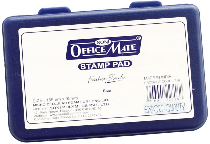 Soni Officemate series 500 Impressions plastic Stamp Pad(Set Of 5, Blue)