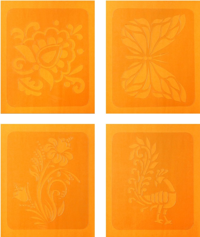 Vardhman Design Stencils flowers Stencil(Pack of 12, flowers)
