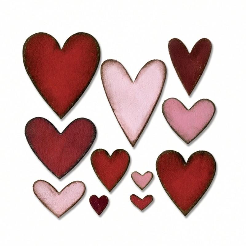 SIZZIX Bigz Die - Heartfelt 660233 heart felt Stencil(Pack of 1, heart)