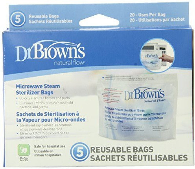 Dr. Brown's Microwave Steam Sterilizer Bags - 1 Slots(Multicolor)