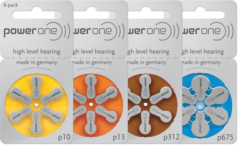 POWER ONE Hearing Aid Battery size 10 (6 PCS)(Yellow)