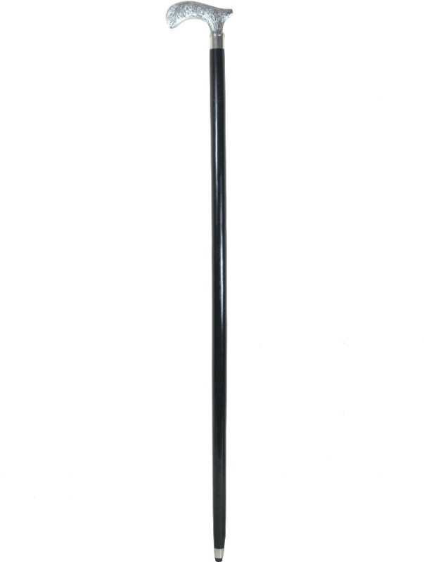 The Royal Collection Flower Engraving Gymnastic Stick - 36 inch(Black, Silver)