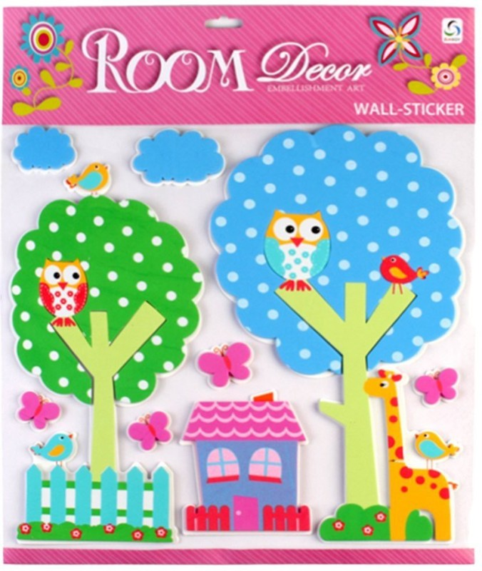 Sunboy Large Kids Room Wall Décor (Design-2) Sticker(Pack of 1)