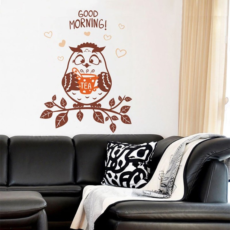 Aquire Wall Decals Good Morning Owl 6420(Multicolor)