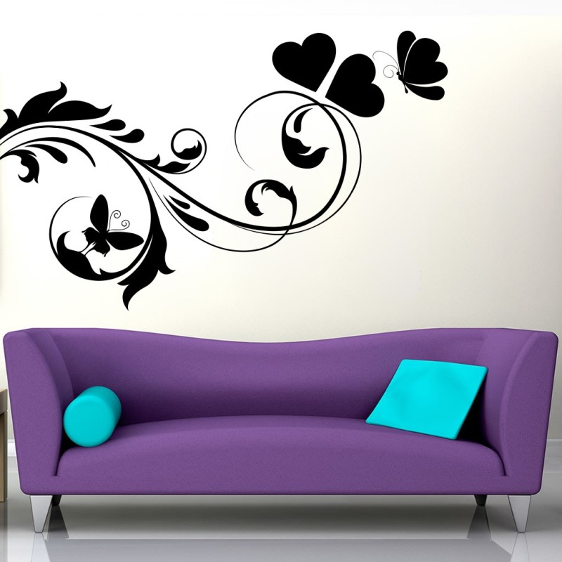 Decor Kafe Large Wall Sticker For Bedroom Sticker(Pack of 1)
