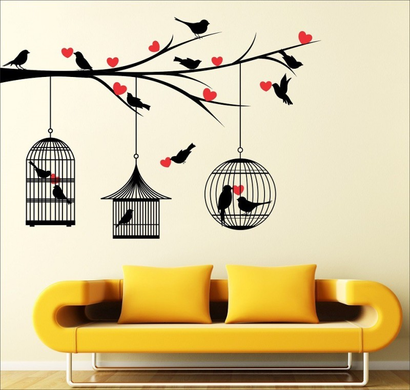 EJAart Extra Large Wall Sticker Sticker(Pack of 1)