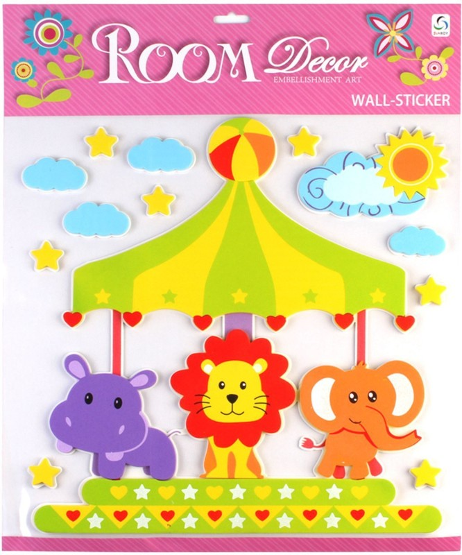 Sunboy Large Kids Room Wall Décor (Design 1) Sticker(Pack of 1)