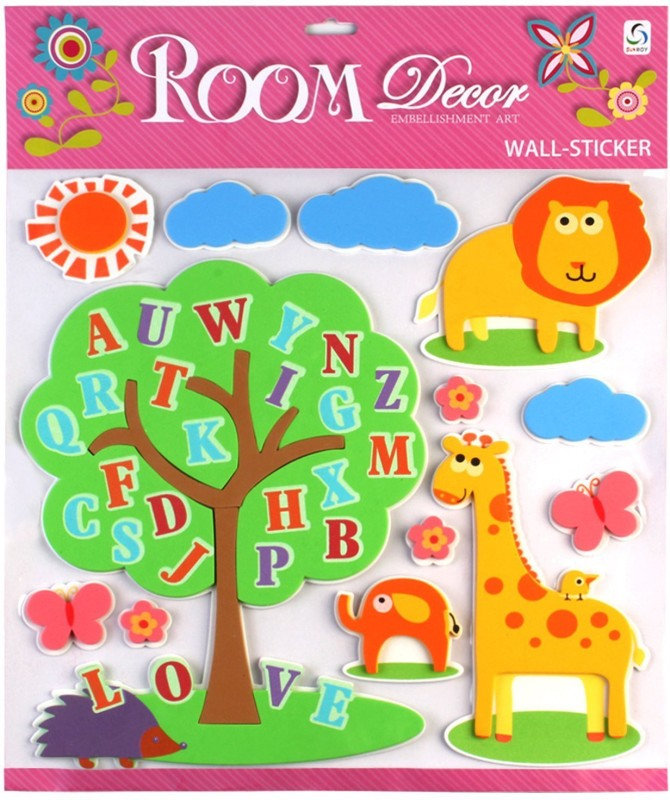 Sunboy Large Kids Room Wall Décor (Design-1) Sticker(Pack of 1)