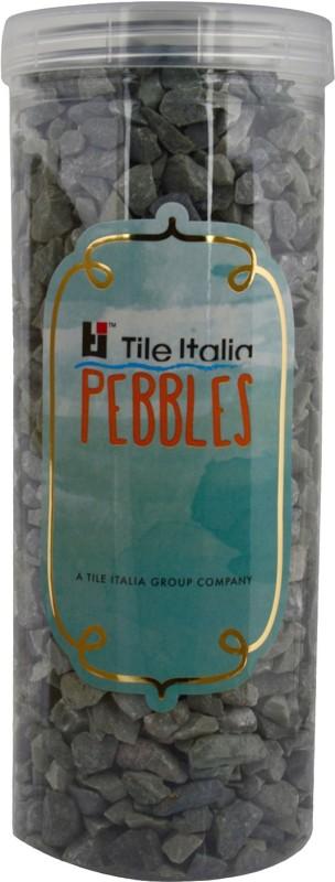 Tile Italia Pebbles Dark Green Unpolished Chips Polished Angular Limestone Stone(Green 1 kg)