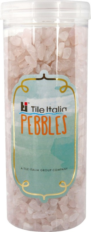 Tile Italia Pebbles Rose Quartz Polished Chips Polished Angular Quartz Stone(Pink 1 kg)