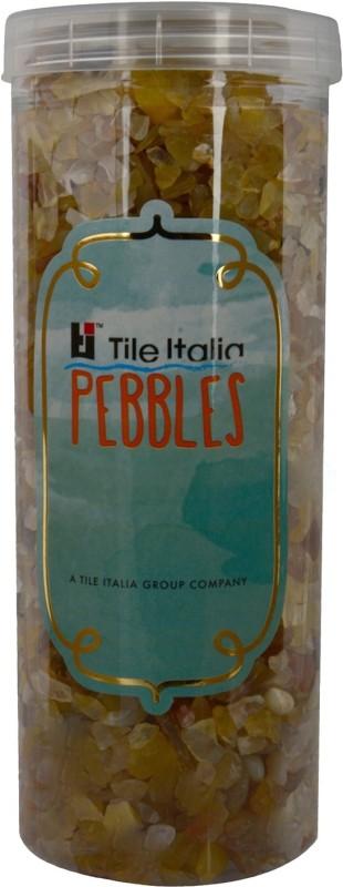 Tile Italia Pebbles Yellow Onyx Polished Chips Polished Angular Onyx Stone(Yellow 1 kg)
