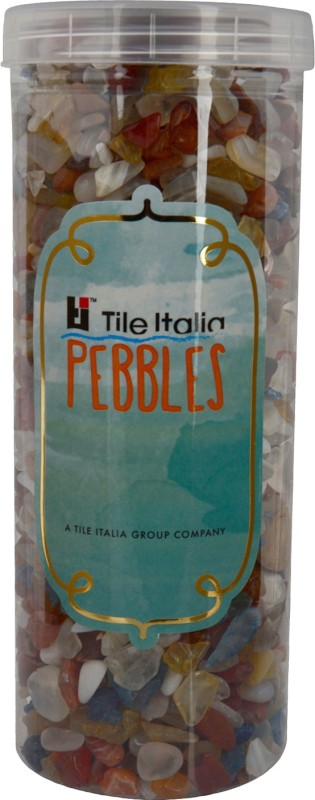 Tile Italia Pebbles Mixed Onyx Polished Chips Polished Angular Onyx Stone(Yellow 1 kg)