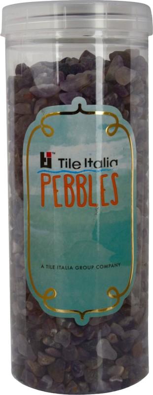Tile Italia Pebbles Amethist Polished Chips Polished Angular Quartz Stone(Purple 1 kg)