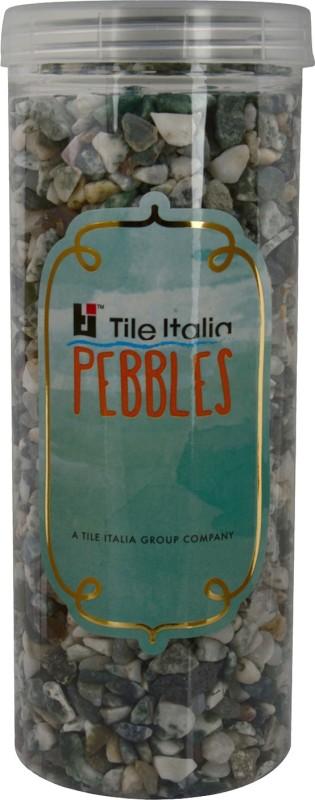 Tile Italia Pebbles Zebra Polished Chips Polished Angular Granite Stone(White 1 kg)