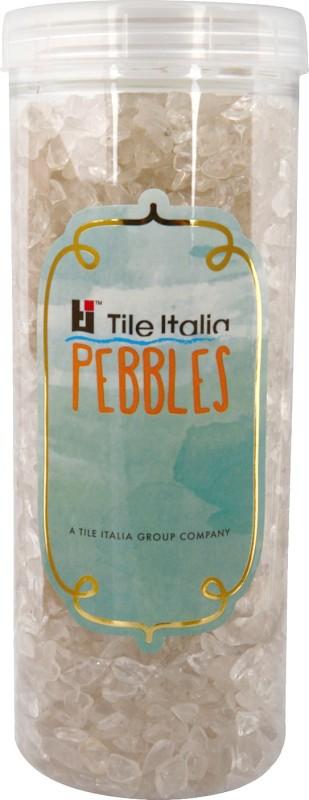 Tile Italia Pebbles Crystal Polished Chips Polished Angular Crystal Stone(Clear 1 kg)