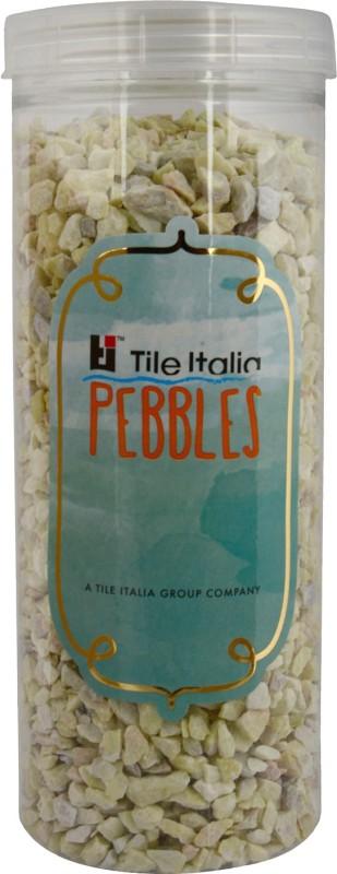 Tile Italia Pebbles Lemon Yellow Unpolished Chips Polished Angular Limestone Stone(Yellow 1 kg)