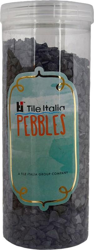 Tile Italia Pebbles Black Unpolished Chips Polished Angular Granite Stone(Black 1 kg)