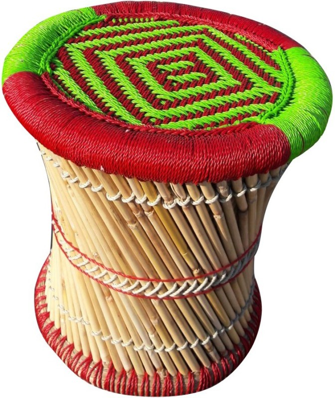 Ecowoodies Canna Outdoor & Cafeteria Stool(Multicolor)