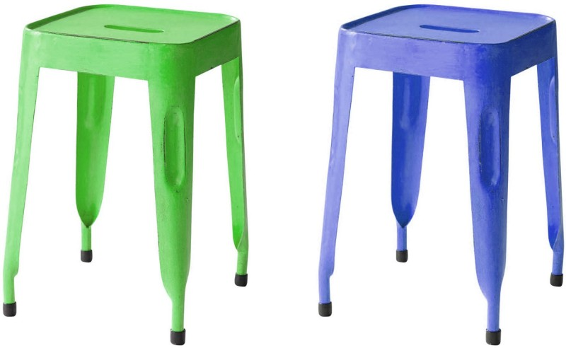 The Attic Outdoor & Cafeteria Stool(Blue, Green)