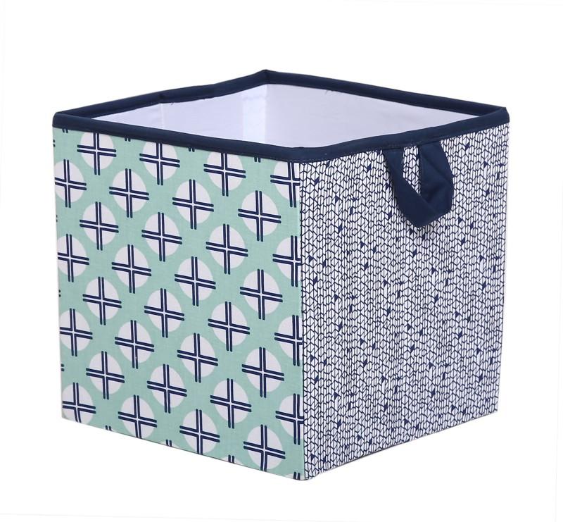 Bacati Tribal Mint Navy Small Storage Box(Multicolor)