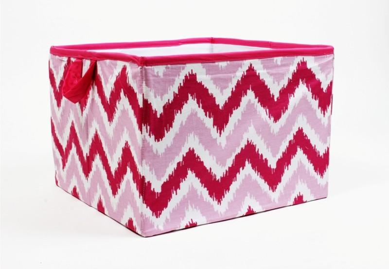 Bacati Mix N Match Pink Zigzag Large Storage Box(Pink)