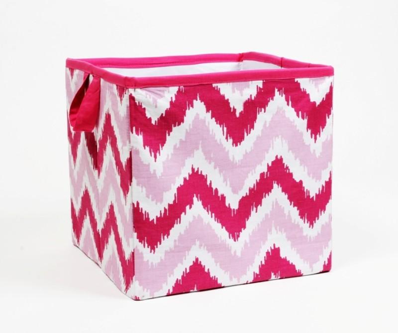Bacati Mix N Match Pink Zigzag Storage Box(Pink)