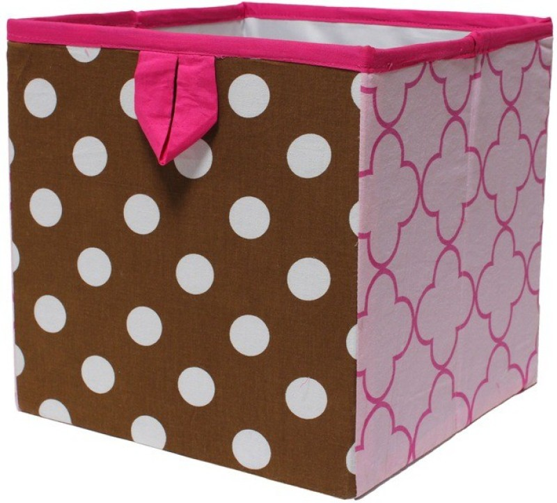 Bacati Butterfly Pink / Choco Small Storage Box(Multicolor)