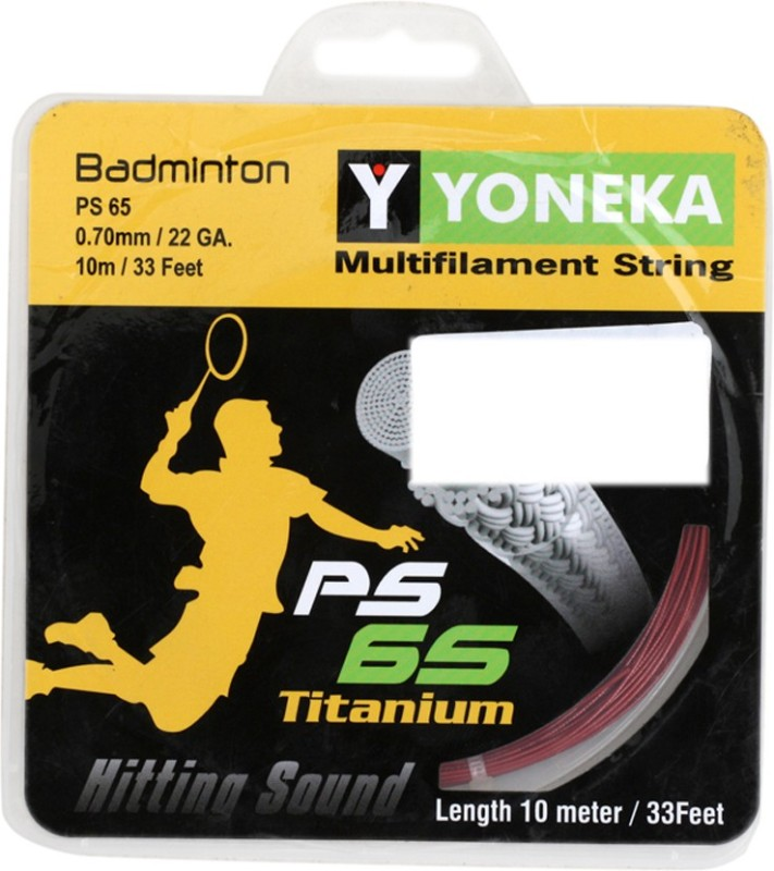 YONEKA PS-65 Titanium 0.70 Badminton String - 10 m(Multicolor)