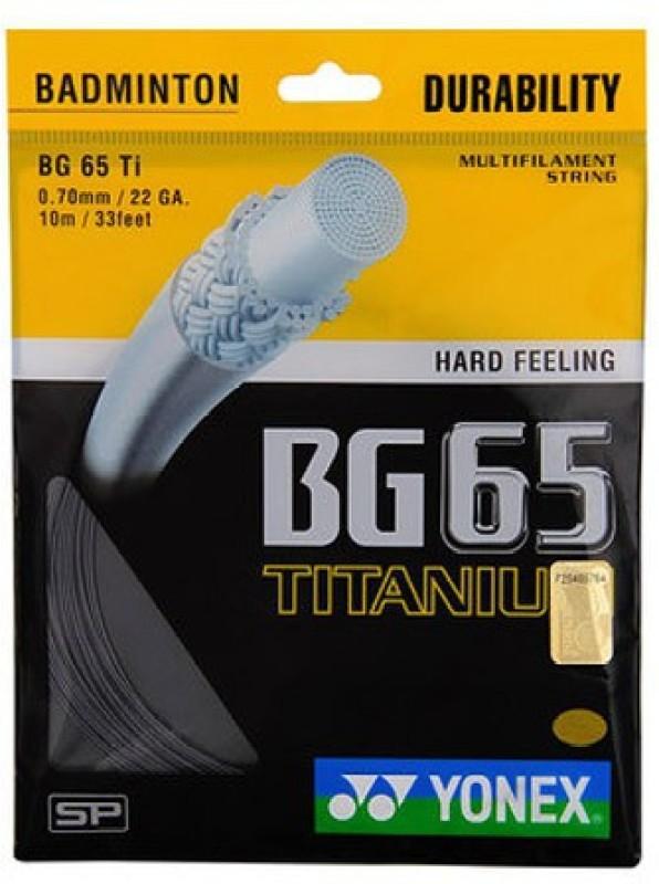 Yonex BG65 Titanium 0.70 Badminton String - 10 m(Black)