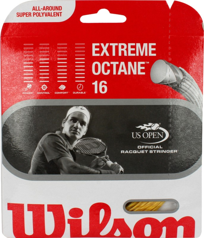 Wilson Extreme Octane 16 1.30 mm Tennis String - 12.2 m(Gold)