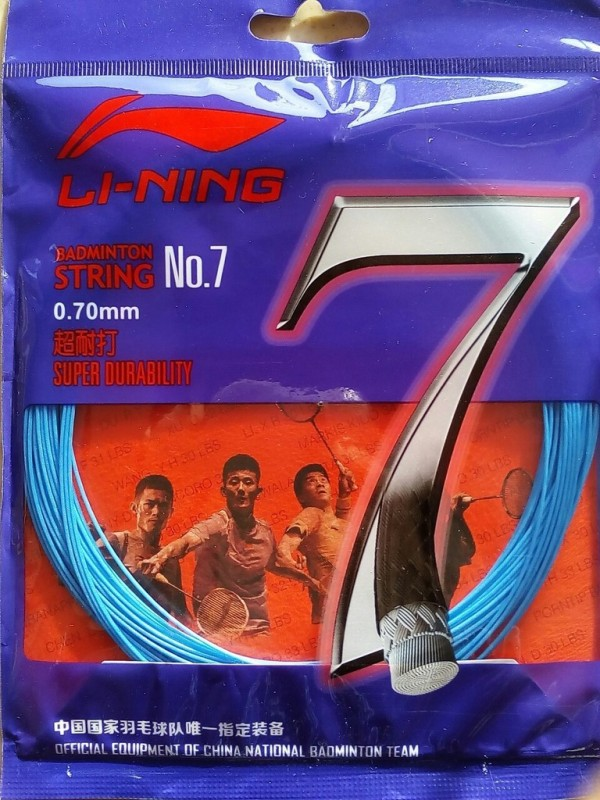 Li-Ning String No.7 0.70 Badminton String - 33 ft(Black, Blue, Gold)