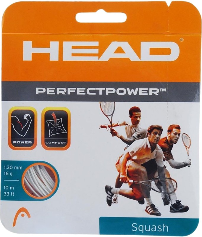 Head Perfect Power 16 Squash String - 10 m(White)
