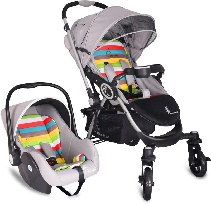 R for Rabbit Travel System Chocolate Ride Pram(3, Multicolor)