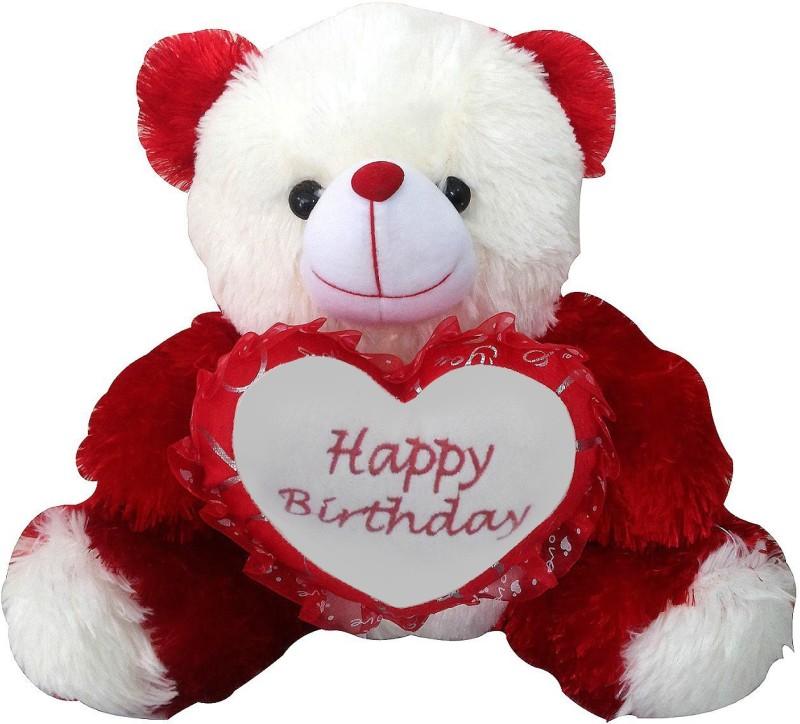 Saugat Traders Happy Birthday Teddy Bear - 40 cm(Red, White)