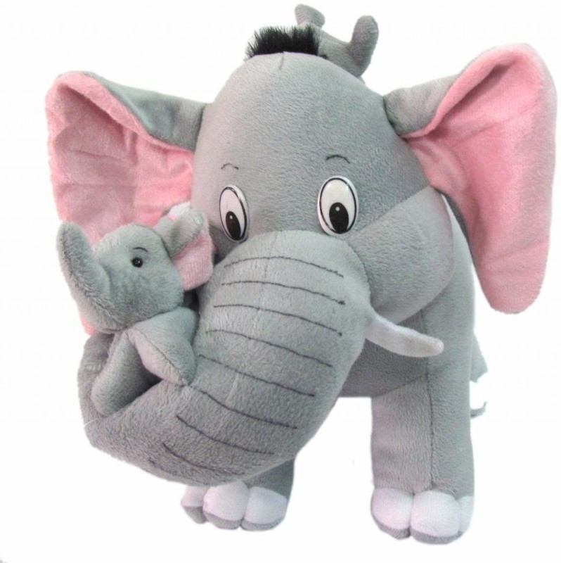 Swastikunj Mother Elephant With Two Cute Little Babies 32cm - 10 cm(Grey)