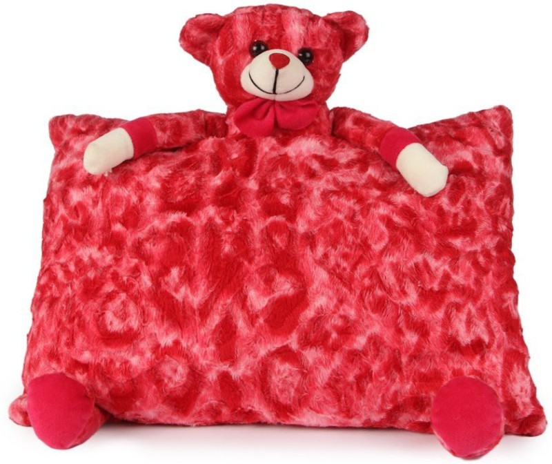 Deals India Teddy Pillow - 40 cm(Red)