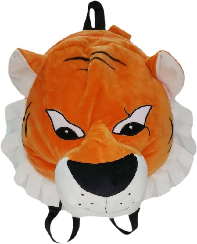 Soft Buddies Jungle Book Series Cartoon Character BAG for kids- SHAREKHAN - 12 inch(Orange, White)