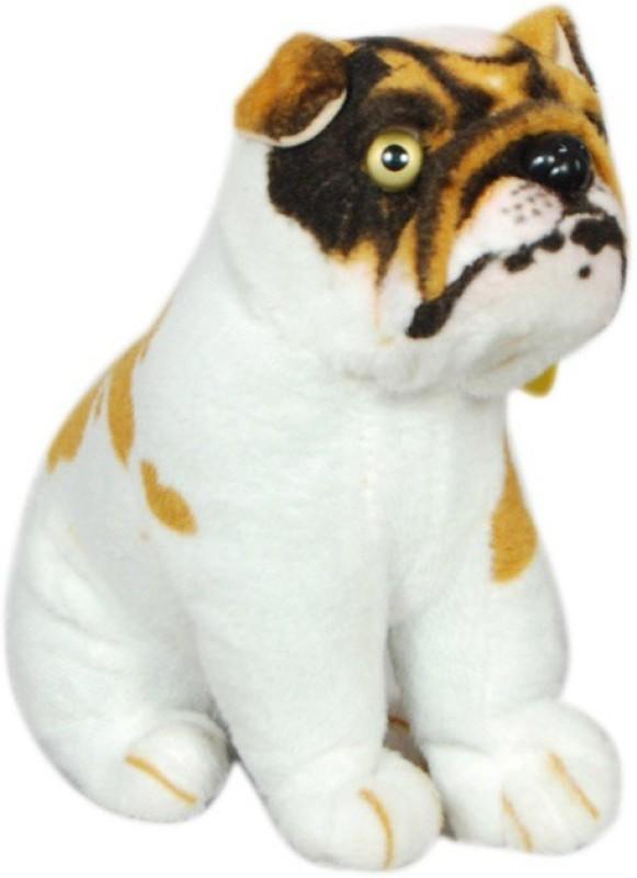 VRV Bulldog dog soft plush stuffed toy - 20 cm(Brown)
