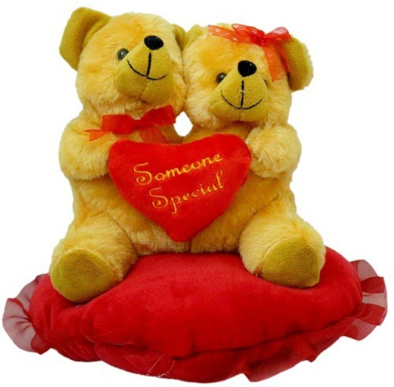 Sana Teddy Love Pair With Sitting Heart cm 20 - 20 cm